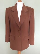 Vintage 80s/90s Jaeger Brown Pure New Wool Jacket/blazer (UK10)