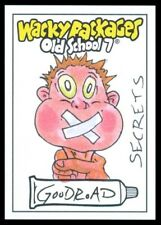 2018 TOPPS WACKY PACKAGES OLD SCHOOL 7 SECRETS GOODROAD COLOR SKETCH 1/1