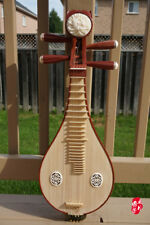 Chinese Liuqin, Chinese Soprano Pipa Lute Guitar 樂海花梨木柳琴