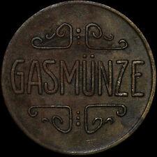 GASMARKE: Gasmünze, Ms. STÄDTISCHES GASWERK REICHENBACH IM VOGTLAND / SACHSEN.