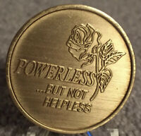 Powerless But Not Helpless Bronze Medallion AA RECOVERY CHIP SOBER COIN New Uk