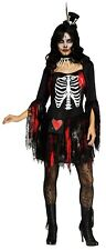 Womens Lacey Day of the Dead Voodoo Skeleton Queen Dress Skirt Adult Costume