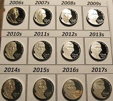 Return to Monticello CompleteSet 12 Cameo Proof Jefferson Nickels 2006s to 2017s
