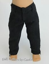 """Black Microfiber Jeans w/Zippers  - Pants fit 18"""" American Girl Doll - Clothes"""