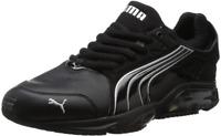 PUMA MEN POWER TECH BLACK-SILVER CASUAL GYM RUNNING WALKING SHOES 187183 16