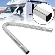 60cm Car Stainless Steel Exhaust Pipe Parking Air Heater Tank Diesel Gas Vent US