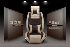 9pcs Car Seat Covers Universal For All Cars Vehicle 5 Seats New Set PU Leather