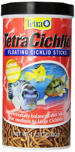 11.3oz Tetra Cichlid Floating Sticks, FREE 12-Type Ultra Pellet Blend Included