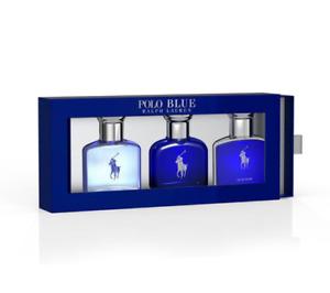 Ralph Lauren Fragrance Polo Blue EDT EDP Ultra Trio Holiday Gift Set 3x40ml BNIB