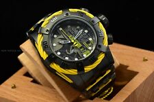 Invicta 53mm Lim E DC Comics Batman Bolt Chronograph Black Yellow Swiss Watch
