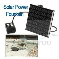 Solar Fountain Water Pump Panel Garden Pond Pool Submersible Watering Kit NEW