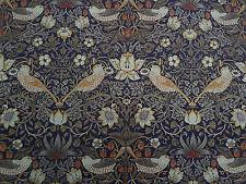 William Morris & Co Curtain Fabric  'Strawberry Thief' 3.45 METRES Grape/Gold