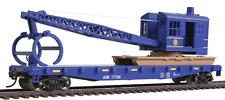 Spur H0 - Walthers Flatcar mit Kran Alaska Railroad -- 1780 NEU