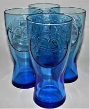 4 McDonalds Retro 1962 Blue Soda Fountain Glasses Tumblers