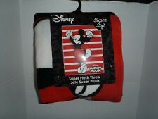 "DISNEY MICKEY MOUSE  SUPER SOFT Plush Blanket Throw 48"" X 60"" NEW"