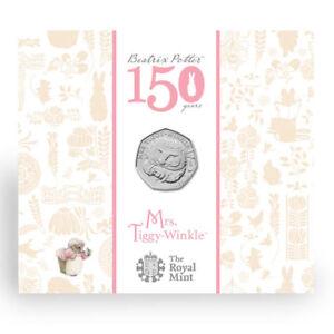 Mrs Tiggy-Winkle 2016 UK 50p BU Coin