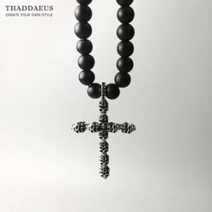 Skull Cross Pave Necklace,2017 Brand  Strand Fashion 925 Sterling Silver Gift