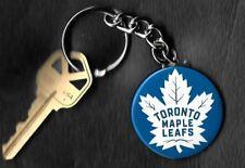 Toronto Maple Leafs White Leaf Keychain Key Chain NHL