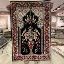 Yilong 2'x3' Vase Pattern Handmade Classic Silk Carpet Hand Knotted Rugs 404M