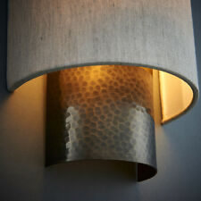 Endon Indara Wall Light Aged Hammered Bronze Finish 40W E14 Golf Dimmable
