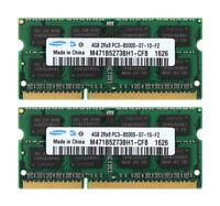 CPU Samsung 8GB 2x 4GB 2RX8 DDR3 1066MHz PC3-8500S 204PIN Laptop RAM Memory 1.5V