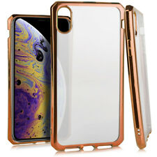 "For iPhone XS MAX 6.5"" - Rose Gold Chrome Soft Rubber Silicone TPU Case Cover"