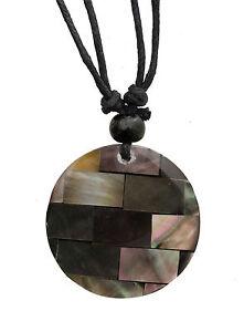 Halskette Ethnisch Mit Anhänger Perlmutt - Modeschmuck Billig - BB608-A77