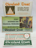 3 Vintage 1936 Advertising Cleveland Trust Ink Blotters