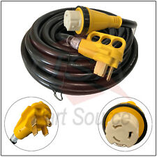 New 50 Foot 50 Amp RV Extension Cord Adapter Shore Power 14-50P SS2-50R 50ft 50a