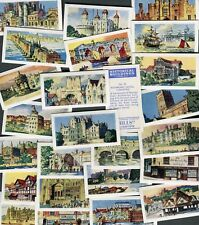 "AMALGAMATED TOBACCO 1959 SET OF 25 ""HISTORICAL BUILDINGS"" CIGARETTE CARDS"