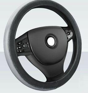 Auto Grau Lenkradbezug Kunstleder Effekt Lenkradhülle 37-38cm Durchmesser für