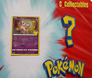 Pokemon Card Mew 011/025 Celebrations 25th Anniversary Holo Rare Mint