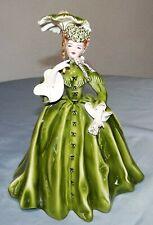 "Vtg Florence Ceramics VIVIAN 10"" Lady Green Parasol Pasadena California Figurine"