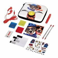 Hama Nintendo 2DS Tasche 13in1 Zubehör Paket Dog Set New Schutz Folie + Stift