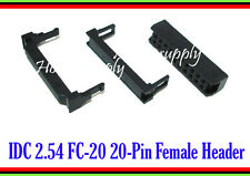 FC-20 IDC 20 Pin 2.54mm Female Header Connector Socket x 3 SETS