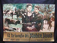 FOTOBUSTA CINEMA - IL TRIONFO DI ROBIN HOOD - DON BURNET - 1962 - AVVENTURA