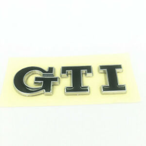 1PC - BLACK GTI LETTERING BADGE EMBLEM FIT VOLKSWAGEN VW GOLF MK7