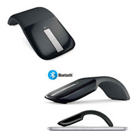 Bluetooth Wireless Optical Mouse Touch Scroll Arc Touch Foldable 1200 Dpi
