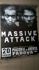 MASSIVE ATTACK Tour Poster Manifesto 2008 giant poster Italy 3D Del Naja Daddy G