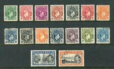More details for nigeria: 1938-51 george vi set of 16 sg45-59 fine used  (de280)