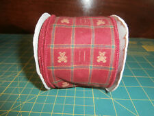 """Wired Ribbon 3"""" x 5 Yards Red GingerBread Bear Christmas Brown Red"""