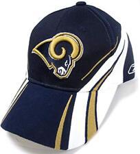42ffcfb291c Los Angeles Rams NFL Reebok Tri-color Laser On-field Hat Cap Adult  Adjustable