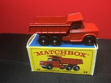 VINTAGE LESNEY MATCHBOX #48-C DODGE DUMP TRUCK WITH ORIGINAL BOX IN RARE  COND.