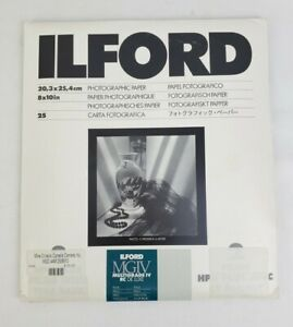 Ilford MGIV Multigrade IV RC Deluxe Pearl Photo Paper 8 x 10  25 sheets