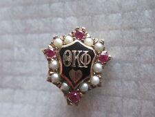 Vintage 10k Solid Gold Theta Kappa Phi Fraternity Pin Badge