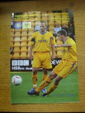03/08/2007 Torquay United v Yeovil Town [Friendly] (Slight Creased). Item In ver