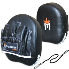CURVED PADDED PUNCH MITTS Meister MMA Focus Training Boxing Target Pads (PAIR)
