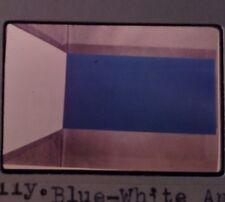 "Ellsworth Kelly ""Blue-white Angle"" 35mm Art Slide-Color Field-Hard Edge Painting"