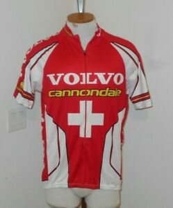 rare VOLVO Cannondale SWISS 2000 Olympic Team  Cycling Jersey  Sz L SAUSER