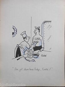 "CLIFFORD C LEWIS ""CLEW"" Original Pen & Ink Cartoon - Icing Sugar Tattoo #129"